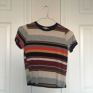 Retro Striped Cotton Top